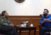 AHY bertemu Mahfud MD usai KLB digelar di Deli Serdang, Sumut (Tribunnews)